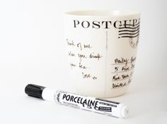 The postcard mug. Apply your own message to our take on the postcard. By baileydoesntbark, $52