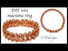 How to make Unisex ring and ear cuff - How to make basic Macrame ring - full version ( slow ) 301 Macrame Rings, Macrame Bracelet Tutorial, Macrame Knots, Micro Macrame, Wire Jewelry Rings, Wire Wrapped Jewelry, Jewellery Box, Jewelery, Wire Tutorials