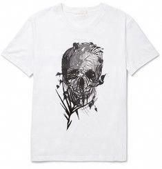 Alexander McQueen Skull-Print Cotton T-Shirt  AlexanderMcQueen Camisetas ef7ee1a23d874