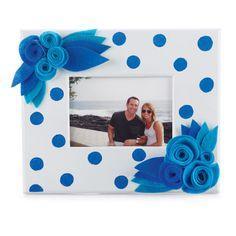 Polka Dot and #Felt #Flowers Craft #Frame
