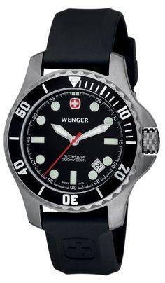 Amazon.com: Wenger Men's Battalion Diver Titanium Watch 72349: Wenger: Watches $245.00