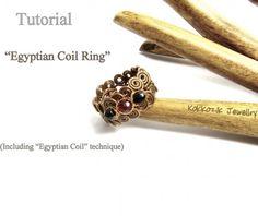 Tutorial DIY Egyptian Coil Ring