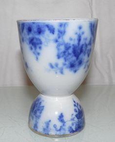C1900 Antique Porcelain Flow Blue Delicate Egg Cup | eBay