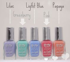 Barry M Gelly Nail Varnish Reveiw