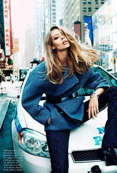 Harper's Bazaar Australia September 2014 | Ondria Hardin by David Mandelberg [Editorial]