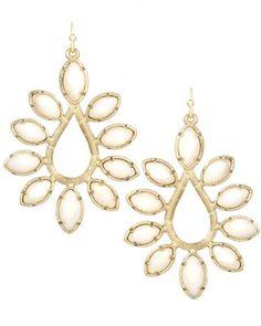 Nyla Earrings in White Pearl. Fun + feminine. #KendraScott