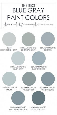 The Best Blue Gray Paint Colors &; Life On Virginia Street The Best Blue Gray Paint Colors &; Life On Virginia Street Zoey Black zoeyblack Sanierung A collection of the best […] for home living room color trends