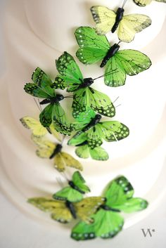 Birds and butterflies are about as classic as a wedding cake itself. Add a punch of color to the concept with these beautiful decorative butterflies for a contemporary twist.