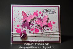 Stamping with Marsha: Gorgeous Grunge. Love the colors and the twine and button detail also.