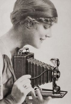 Girl with Kodak camera ~ 1910