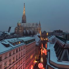 Snowy Roofs of Vienna Pt. Vienna, Shots, Street, City, Photography, Vacation, Photograph, Fotografie, Cities