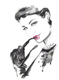Fine Art Print 8.5 x 11 from Original Watercolor Fashion Illustration by Lana Moes via Etsy