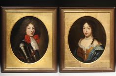 Portraits of Louis le Grand Dauphin and Marie-Anne de Bavière, 1680, follower of Pierre Mignard