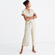 Sweet dreams start with cute pajamas (it's just science). This brushed flannel top is particularly REM cycle-inducing when paired with the matching bottoms. <ul><li>True to size.</li><li>Cotton.</li><li>Machine wash.</li><li>Import.</li></ul>