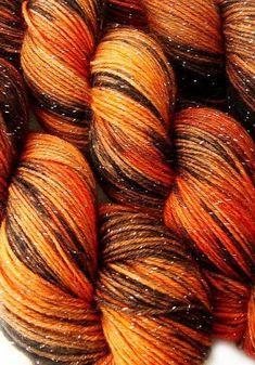 glitter sock yarn ISENGARD Lord of the Rings hand dyed sw merino nylon stellina 435 yards Orange Brown, Orange And Purple, Orange Color, Red Cottage, Cozy Cottage, Scenery Photography, Color Naranja, Creative Colour, Orange Crush