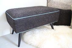 Pouf en feutre de laine Textiles, Ottoman, Chair, Furniture, Home Decor, Lounge Chairs, Objects, Decoration Home, Room Decor