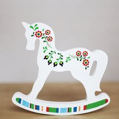 Wooden horse. Polish folk pattern. Animal by collectivemade