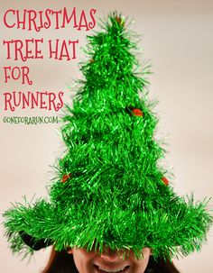 Get festive during your holiday run or race with this awesome Christmas Tree hat!