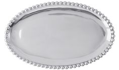 Pearled Small Oval Platter | Lucky Den Mariposa has a gift for tradition, reimagined, in the String of Pearls collection.