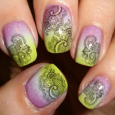 Decorative nail art decals in a henna style designs - Henna Nail Water Decals | Nail Art Supplies | Sparkly Nails