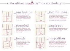 The ultimate Cuffs fashion vocabulary Source: Enerie Fashion