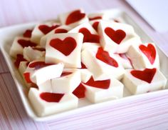 Valentine's Day jello hearts -- the perfect addition to your sweet table spread.