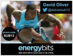 "DAVID OLIVER: David competes in the 110m hurdles outdoor and the 60m hurdles event indoor for Team USA. ""I take BITS for a variety of reasons. My number one reason is because it provides me steady energy. I also like the fact they are certified for my sport and don't contain any banned substances, that is the most important thing to me when it comes to what I ingest from a supplemental standpoint."""