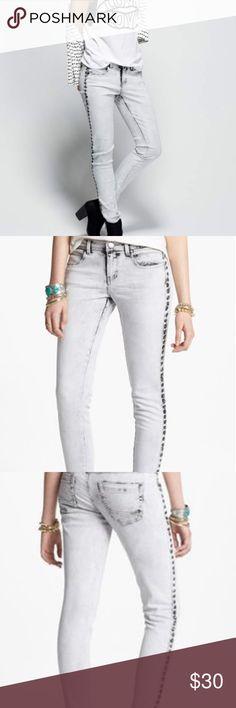 f89238cdb3e2 💋Studded Acid Wash Skinny Jeans by Fire Studded Acid Wash Skinny Jeans by  Fire!