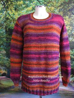 Magia do Crochet: Camisola em tricot para senhora