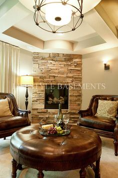 cool corner fireplace