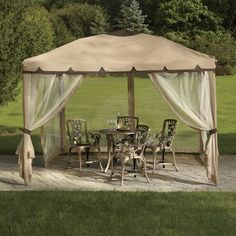 Enjoy the warm summer weather without worrying about the season's the harsh sun or pesky bugs. This Pop-Up Gazebo is easy to set up and folds into a storage bag, so you can take it with you! Buy now and pay later when you use Wards Credit.