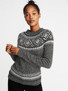 02a38089 Metallic Fair Isle Sweater for Women | Old Navy Girls Sweaters, Cardigans  For Women,
