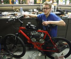 Hello again everyone! In this instructable I will be showing you how to build a 79cc, 4 stroke motorized bicycle from scratch (not a kit motor). The bicycle we will be building is far superior to kit motors in pretty much all areas, including speed (minimum 35 mph, and that's if you gear it for hills), gas mileage (100+ mpg), noise level (much quieter than a 2 stroke), pollution (meets EPA emission standards), and reliability. Let's get started!PS: sorry for the crappy quality video, I'll…