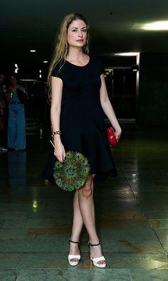 Gloria Saldarriaga - Colombiamoda 2013 - wearing two AdrianeMix Bracelets