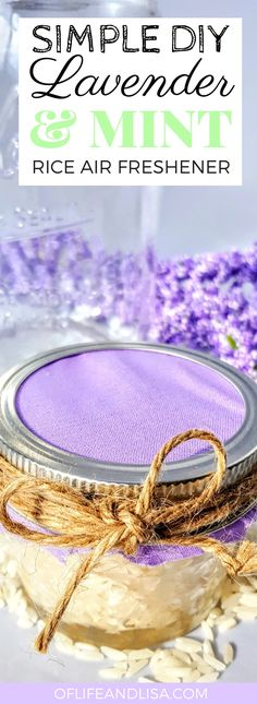 Make your own air freshener using just rice and essential oils. These are perfect for the home and can be used in your car as well. #home #diy #homemade #cleaning #essentialoils