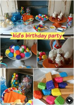Put together this Easy Kid's Birthday Party in under 30 minutes! No Bake Treats, Marshmallows and Cookies with Sprinkles, Ice Cream, and lots of lots of Sprinkles! Learn how easy it is AND budget friendly! Be sure to pin to your Birthday Party Board to save it!