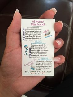 Adorable Mini Facial - Instruction Cards for your business venture! Pair them with your mini facial kit! Includes instructions for ENHANCEMENT