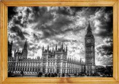 Kup teraz na allegro.pl za 59,90 zł - Obraz W RAMIE 50x70cm Pałac Westminsterski Big Ben (5658371756). Allegro.pl - Radość zakupów i bezpieczeństwo dzięki Programowi Ochrony Kupujących!