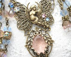 Angel of the Morning - Rosaline Glass Jewel Fairy Fantasy Necklace Set