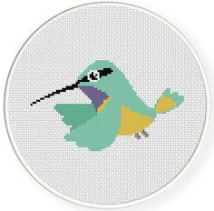 Charts Club Members Only: Hummingbird Cross Stitch Pattern