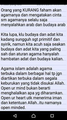 Open minded is...? Menerima aturan islam