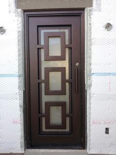 VMW is Arizona's leading manufacturer of custom wrought iron entry doors, metal & steel doors for homes in Scottsdale, Phoenix and Paradise Valley AZ. Grill Door Design, Door Gate Design, Wooden Door Design, Door Design Interior, Front Door Design, Front Door Entryway, Iron Front Door, Entry Doors, The Doors