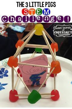 Sweet Sounds of Kindergarten : The 3 Little Pigs- STEM Challenge! Sweet Sounds of Kindergarten : The 3 Little Pigs- STEM Challenge! Stem Science, Preschool Science, Life Science, Science Space, Elementary Science, Science Fair, Elementary Education, Steam Activities, Science Activities