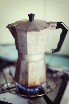 I love my stove-top espresso (this isn't actually mine).  I use mine on holidays when i'm away from my coffee machine.
