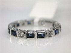 antique diamond and sapphire