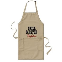 Make your own grill master BBQ apron for men Beige #bbq #apron