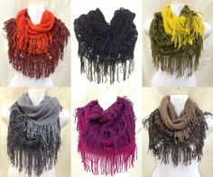 Fashion Women Neck Warmer Two-tone Infinity Scarf  #CowlInfinity