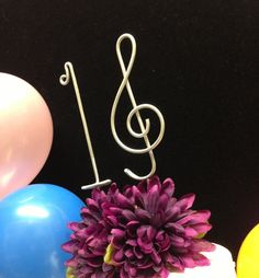 Sweet 16 musical cake topper Sixteen birthday decoration Treble Clef Music Note for sixteenth celebration on Etsy, $22.00