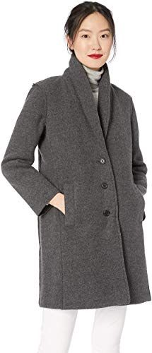 Crew Mercantile Women's Boiled Wool Shawl Collar Topcoat from the popular stores - all in one Coats For Women, Jackets For Women, Clothes For Women, Boiled Wool Jacket, Empire Waist Tops, Denim Coat, Embroidered Jacket, Top Coat, Shawl