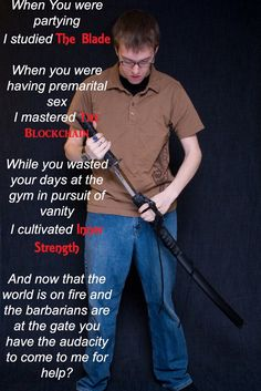 While you were partying I studied the Blade... http://ift.tt/1PyZ4PM